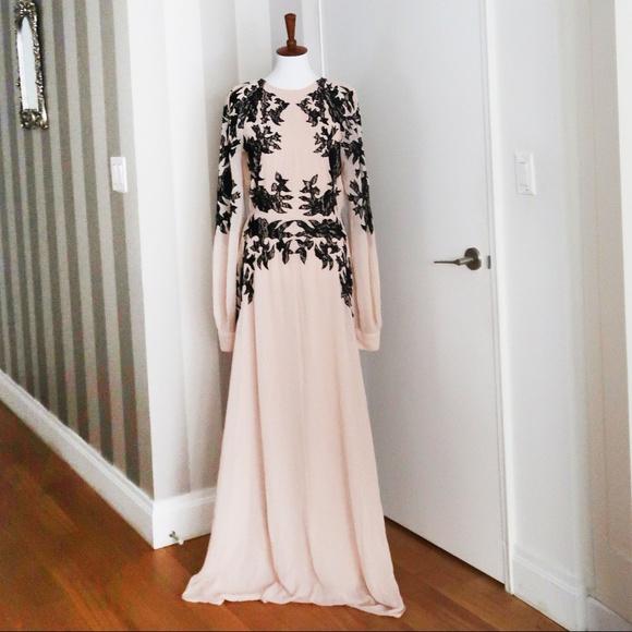 6aeb9718ce48c ASOS Dresses | New Long Sleeve Kaftan Maxi Dress Pink Nude | Poshmark